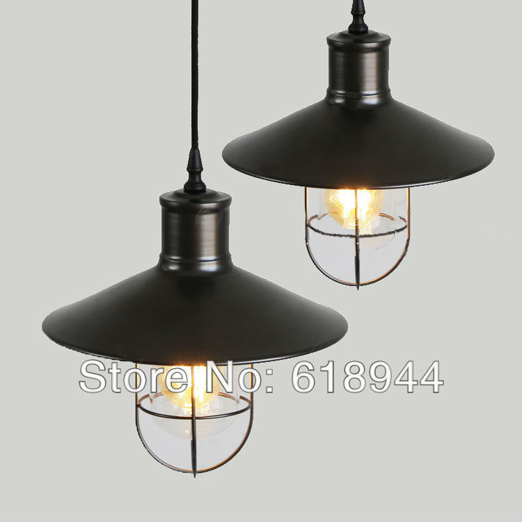 New Item iron vintage edison pendant light copper rustic pendant lights loft hanging post-modern industrial Lighting hanglamp new loft vintage iron pendant light industrial lighting glass guard design bar cafe restaurant cage pendant lamp hanging lights