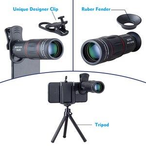 Image 5 - APEXEL Telefon Lens 18X Telescoop Scene Zoom Camera Lenzen met Statief voor iPhone Xs max 7 8 Plus Xiaomi Samsung dropshipping