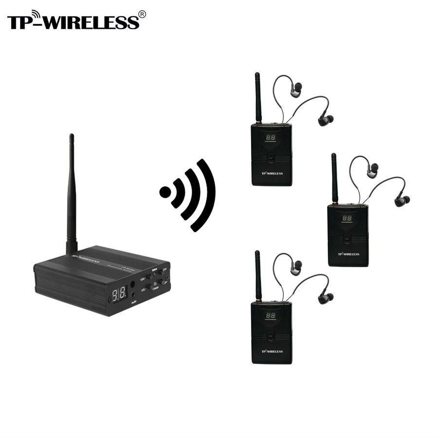TP-Sans Fil Moniteur Système Stade audio Moniteur Système Sans Fil Dans L'oreille Moniteur Système 1 émetteur et 3/4/5/10 récepteurs