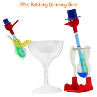 2 יחידות שמח מתנדנד שתיית צעצוע ציפור למבוגרים נגד לחץ לקשקש צעצועים מצחיקים לילדים מתנת חידוש בדיחה לשחק עם כוס זכוכית