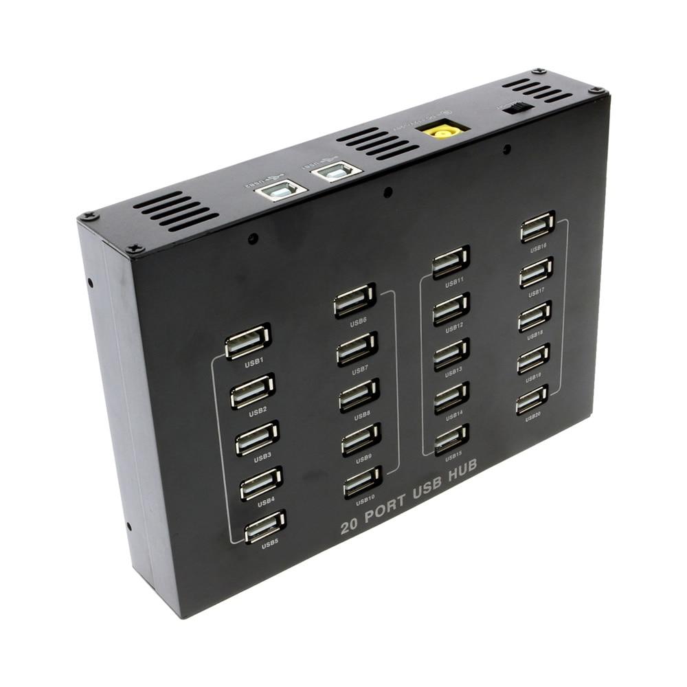 90W power 20 port USB2.0 HUB//USB HUB Industrial grade HUB for Bitcoin mining