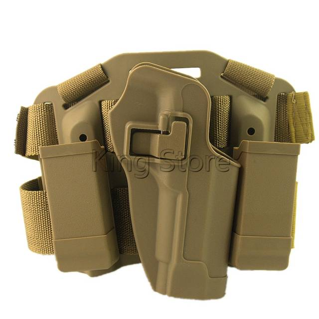 US $18 36 49% OFF|Blackhawk CQC Gun Holster Hunting Airsoft Tactical  Holster Pistol Gun Drop Leg Double Magazine Pouch Thigh Holster for M9-in
