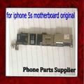Buen trabajo para iphone 5s motherboard con patatas fritas, abierto original para iphone 5s placa base sin identificación de huellas dactilares