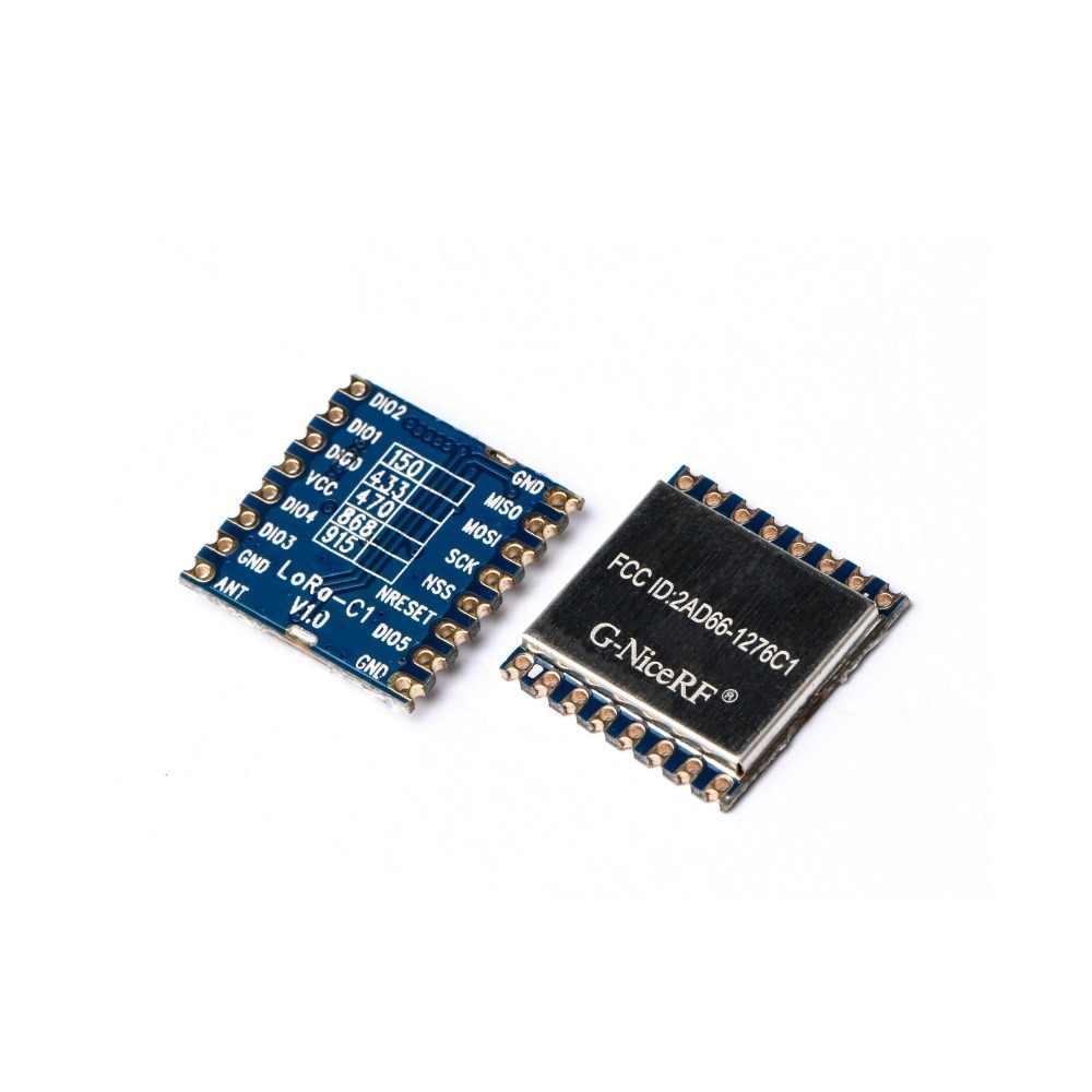 NiceRF 4PCS LoRa1276-C1+spring antenna 915mhz LoRa SX1276 Module 915MHz  20dBm 4Km in Open Area 915MHz/868MHz FCC