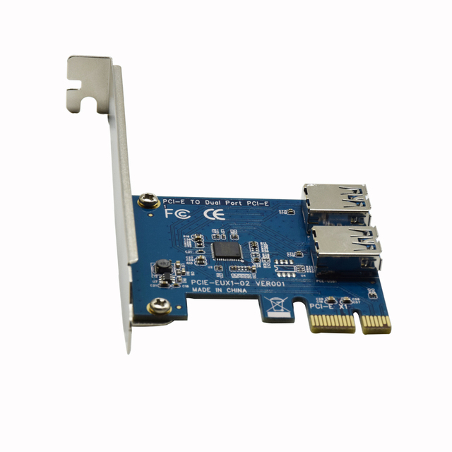 CNKESIN PCI-E 1 turn 2 PCI express 1X slots Riser Card Mini ITX turn external 3 PCI-E slot adapter PCIe Port Multiplier Card