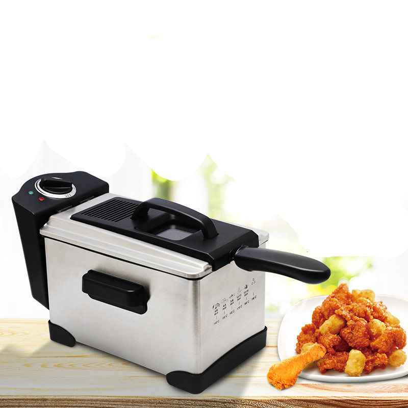 Electric Deep Fryers The fryer is a square fryer. A small with constant temperature and French fries. 220v 3 2l lcd intelligent electric deep fryer oil free smokeless french fries machine for home using electric air fryer