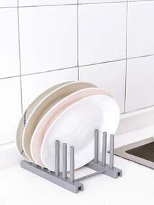 Vanzlife Organizer Dish-Rack Tableware Storage Plastic Kitchen for The Lid-Shelf Drain-Products