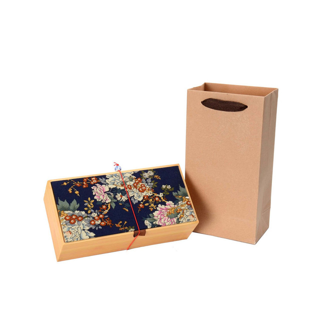 Attirant 1Pcs Graceful Storage Box Luxury Chinese Floral Pastoral Wood Paper Tank  Sealed Cans Coffee Tea Tin