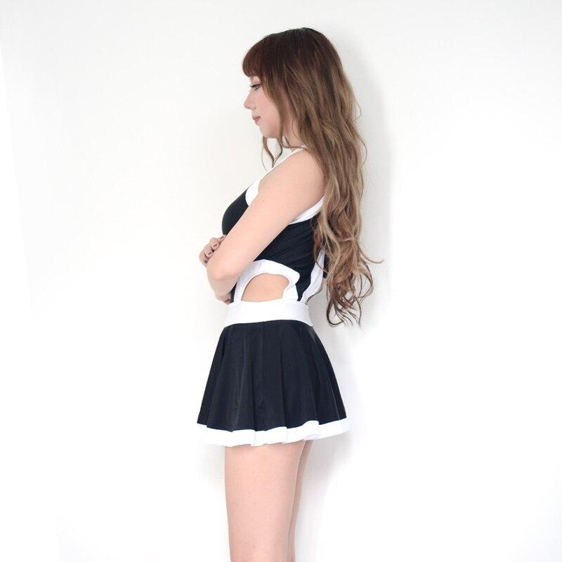Badpak Met Cut Outs.Japanse Vrouwen Sexy Kruis Bodem Rits Een Stukken Badpak Side Cut