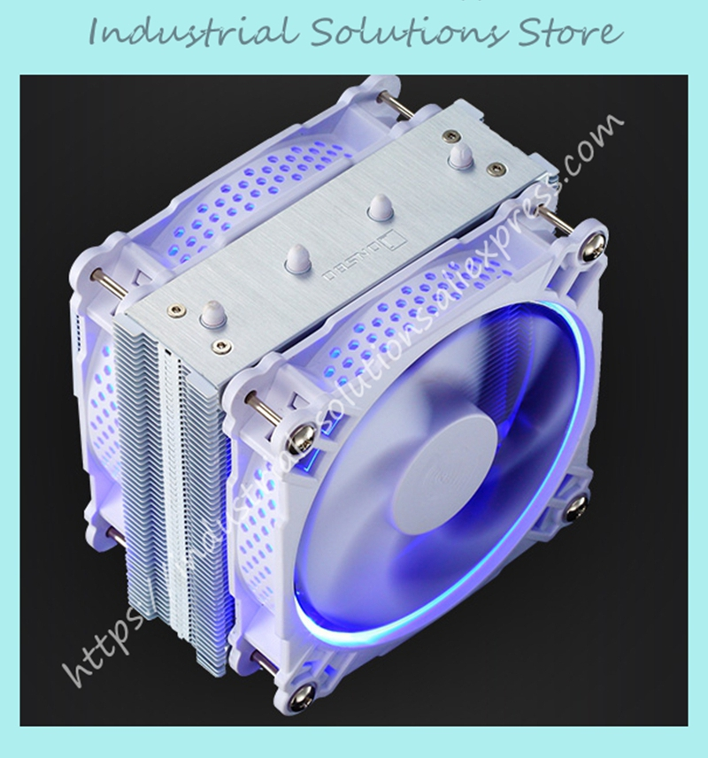 Jonsbo CPU radiator CR-301 RGB radiator 6 heat pipe double fan цены онлайн
