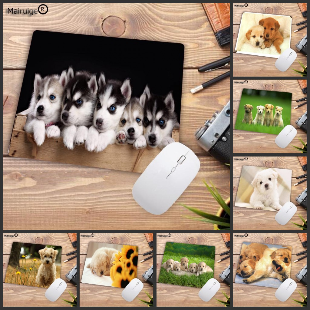 Mairuige Big Promotion  Boy Mat Pad Cute Dog Printed Mousepad For Decorate Desktop Table Creative Small Mouse Pad 180*220MM