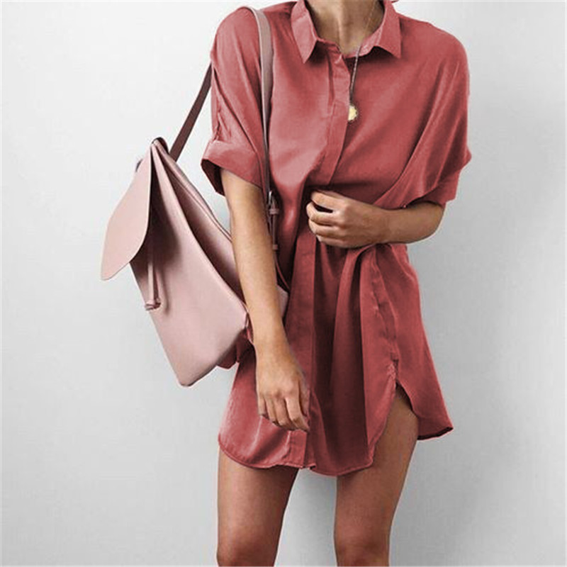 4-Colors-Short-Sleeve-Maternity-V-neck-chiffon-blouse-summer-fashion-casual-solid-Color-shirts-loose (1)
