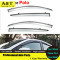 Стайлинга автомобилей Окна Козырьки Для VW Polo 2012 2013 2014 Вс Дождь Щит Наклейки Обложки Автомобиля Стиль Маркизы Навесы