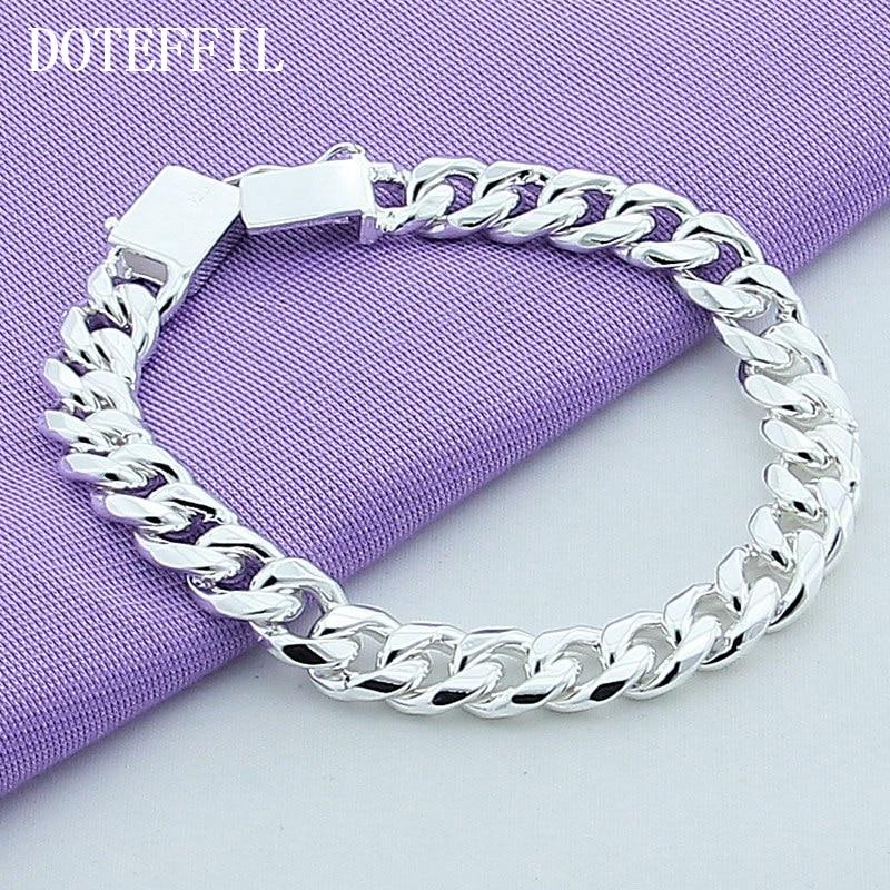 10 мм браслет 925 сріблястий колір - Модні прикраси - фото 2