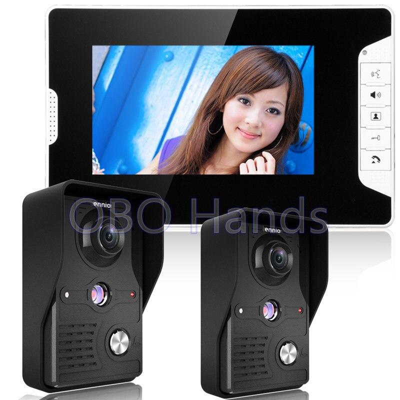 7 Color Video font b door b font phone Intercom Doorbell System Kit IR font b