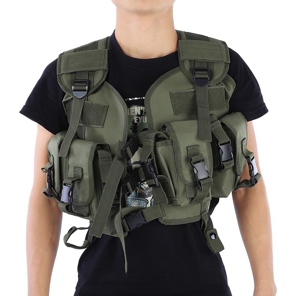Цена за CS Тактическая Джунгли Камуфляж Прохладный Охота Жилет Открытый Обучение Армия Swat Жилет Защитное Оборудование
