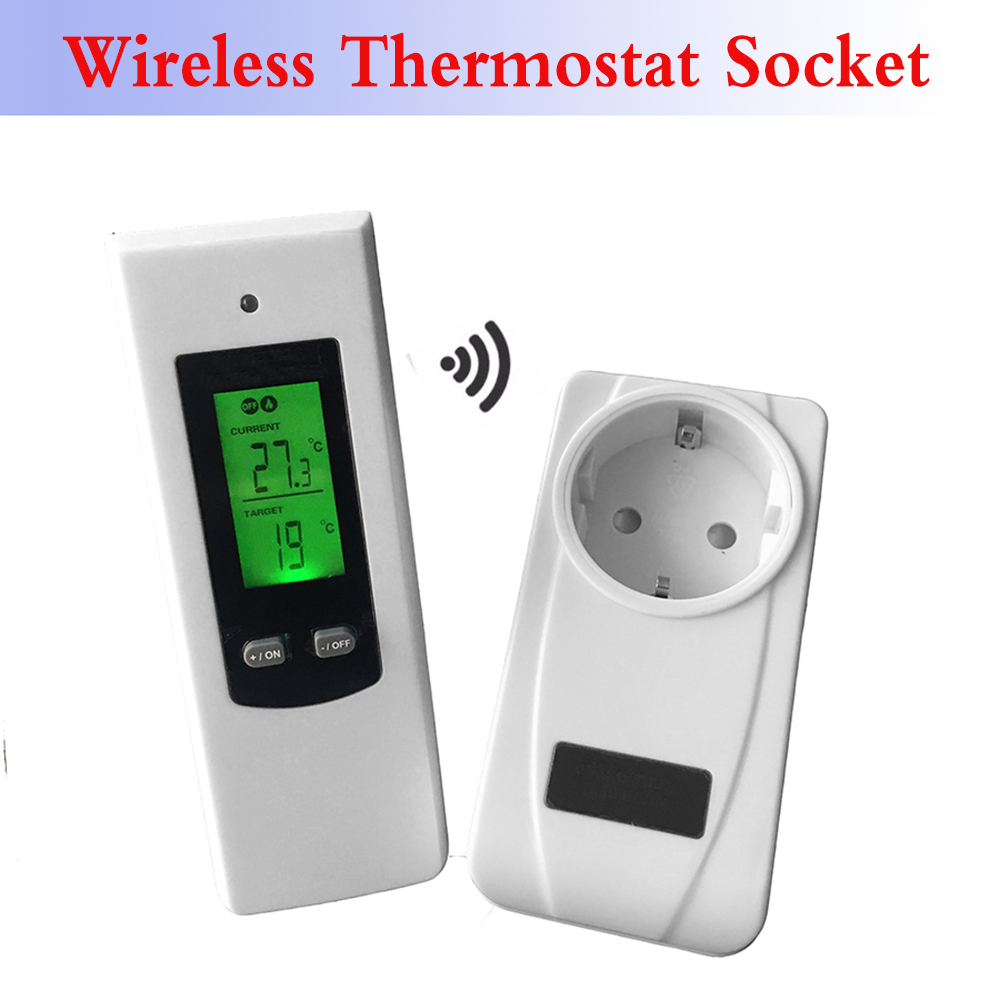 Digital Wireless wifi Thermostat Room Temperature Controller Heating and Cooling function with Remote Control + LCD backlight fk 0011dc digital doorbell with wireless remote control function for homes offices factories restaurants and so on
