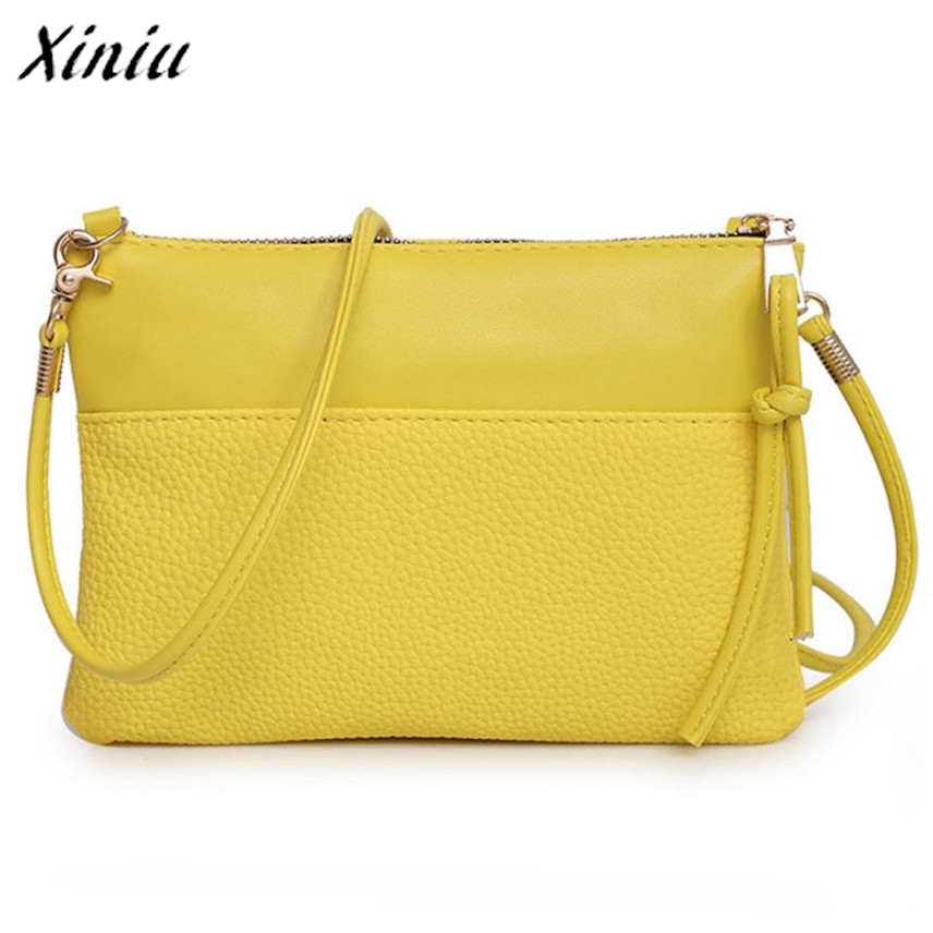 Bolsas 2017 Women Fashion Crossbody Handbag Shoulder bags Large Tote Ladies hand bags Purse Yellow Bolsas de ombro 11cls bolsas fashion 100