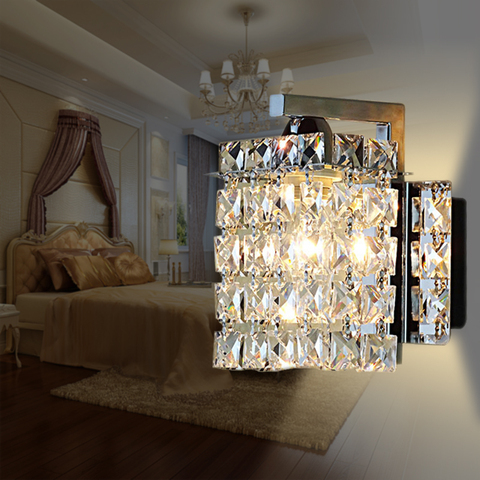crystal wall lamp