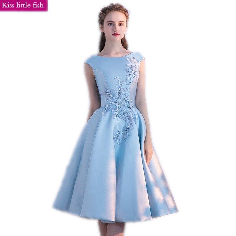 Us 6383 17 Offfree Shipping 2019 New Light Blue Graduation Dresses Special Occasion Dresses Vestidos De Graduacion Cortos In Homecoming Dresses