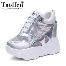 Taoffen Women Super (High) 저 (힐 무사 Shoes Women 영 Fashion 숙 녀 두꺼운 Bottom 클럽 Stylish Sneakers Shoes Size 34- 39(China)