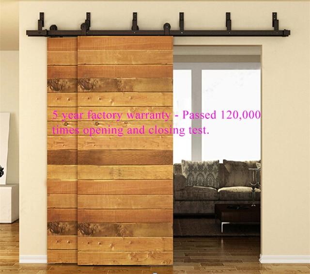 Ordinaire 6ft 8ft Modern Pendant Style Upper Bypass Double Sliding Door Hardware  Indoor Barn Door Pure Steel