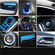 Blue ABSสแตนเลสคอนโซลประตูAir Outlet Handle ArmrestกรอบสำหรับChevrolet Cruze 2009 10 11 12 13 14 15 AAA055(China)