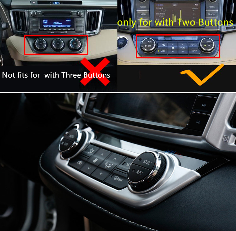 For Toyota RAV4 2014 2015 2016 2017 2018 ABS Accessories Matte Interior Air Condition Asddjustment Cover Trim Frame 1pcs in Interior Mouldings from Automobiles Motorcycles