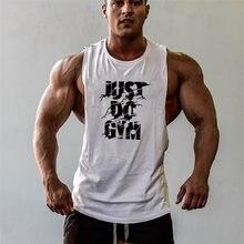 2018 homens De Verão de Algodão roupas academias Regatas Singletos  Sportswear Sem Mangas homens colete de fitness Musculação cam. cab784bae83