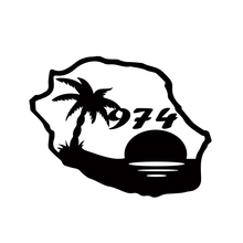 цена на Sticker 974 Meeting Island Map Coconut Tree Motorcycle SUVs Bumper Car Window Car Stylings Vinyl Decals