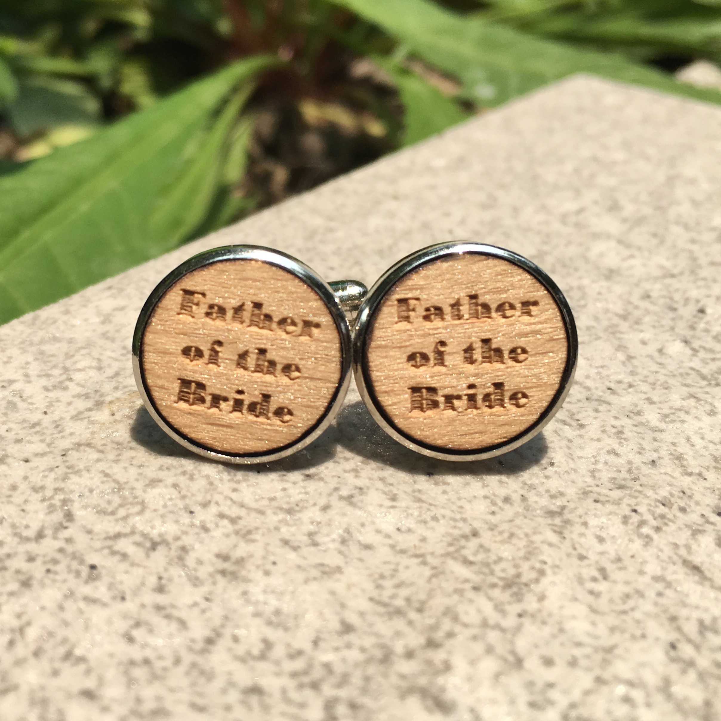 Father of The Bride Wood Cufflinks Father Wooden Jewelry Fathers Day Wooden Cufflink Wedding Wooden Gift X 5 Pairs