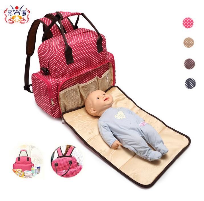 ФОТО Fashion Baby Cribs Diaper Stuff Organizer Stroller Mother Waterproof Nappy Changing Bags Brand Baby Bed Portable Bags C1041