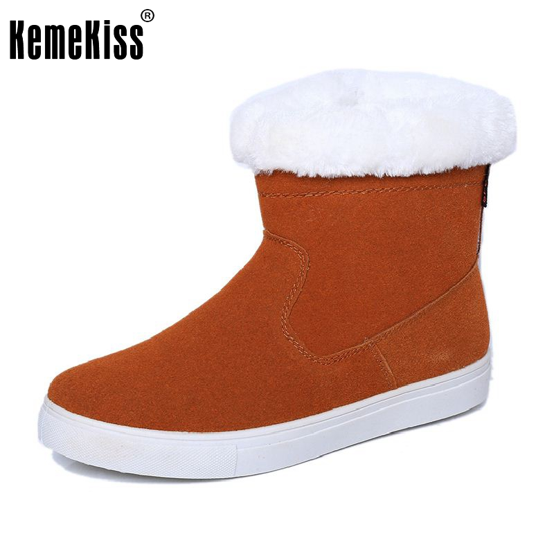 2016 New Arrived Russia Snow Boots Women Flats Shoes Lady Thickened Fur Winter Keep Warm Ankle Boot Short Plush Botas Size 35-40 new winter autumn brand luxury women shoes flats suede leather warm snow casual zapatillas mujer plush timber shoes for lady