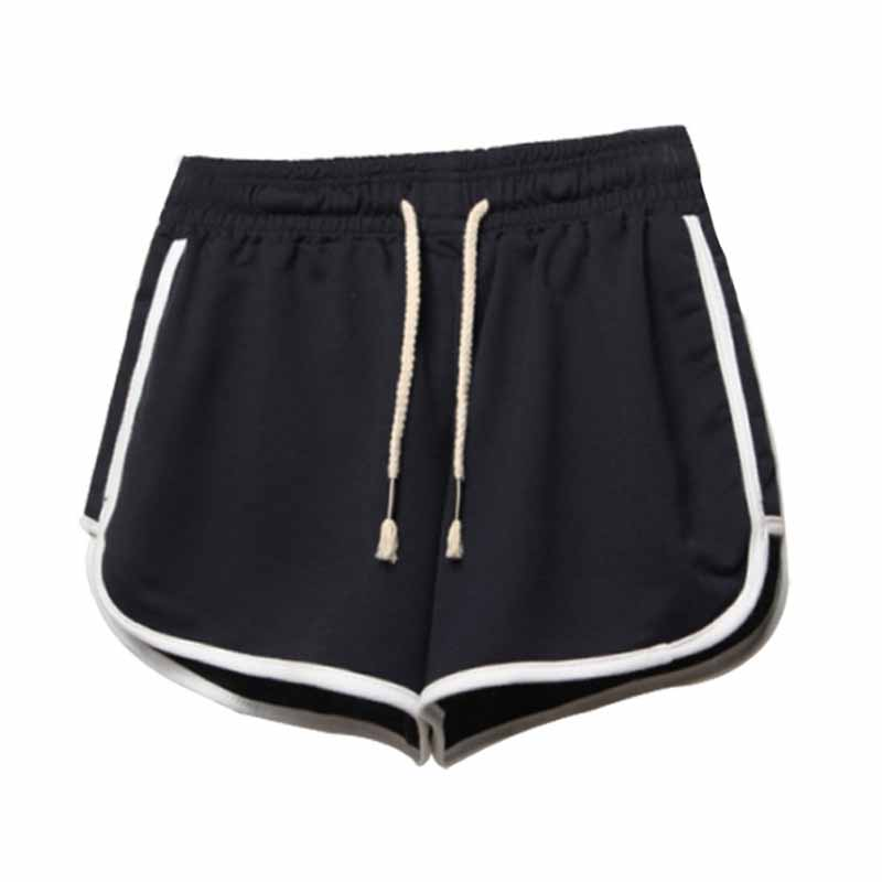 Hot Sale Drawstring Shorts Women Casual Loose Cotton Clothes Side Split Elastic Waist Shorts Femme Fitness Short Plus Size