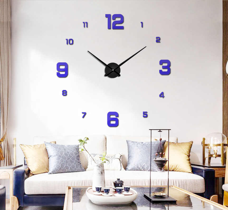 Decorative Mirror Table Muhsein 2019 New Wall Decorative Mirror Wall Clock Modem Design Large Decorative Clocks Hanging Table Unique Gifts Free Shipping