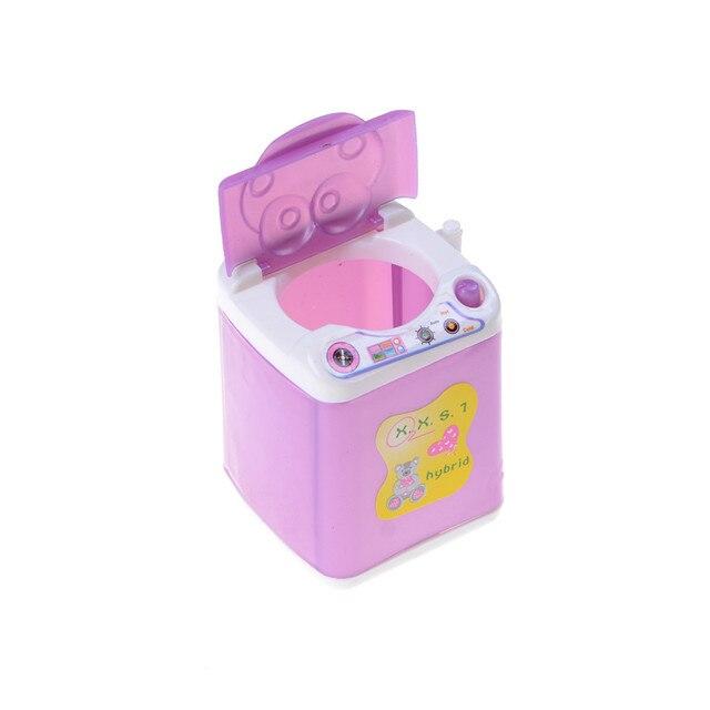 Toyzhijia 1pcs Fashion Mini Plastic Doll House Furniture Toy Washing