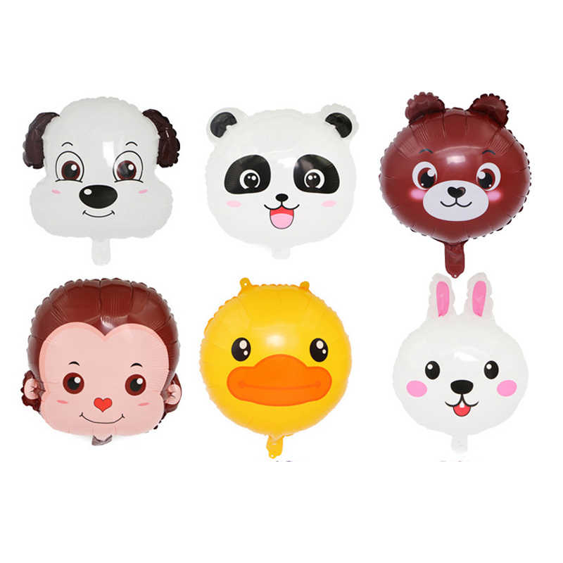 HOT 6 pçs/lote 18 polegada Balão Animal Filhote de Cachorro Bonito Macaco Coelho Urso Panda Decoração Balões de Festa de Aniversário da Criança das Crianças brinquedos