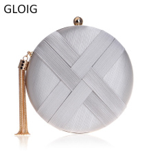 GLOIG Women Evening Clutch Purse Party Wedding Dinner Small Purse Tassel Fashion Lady Chain Shoulder Handbags For Female Bag