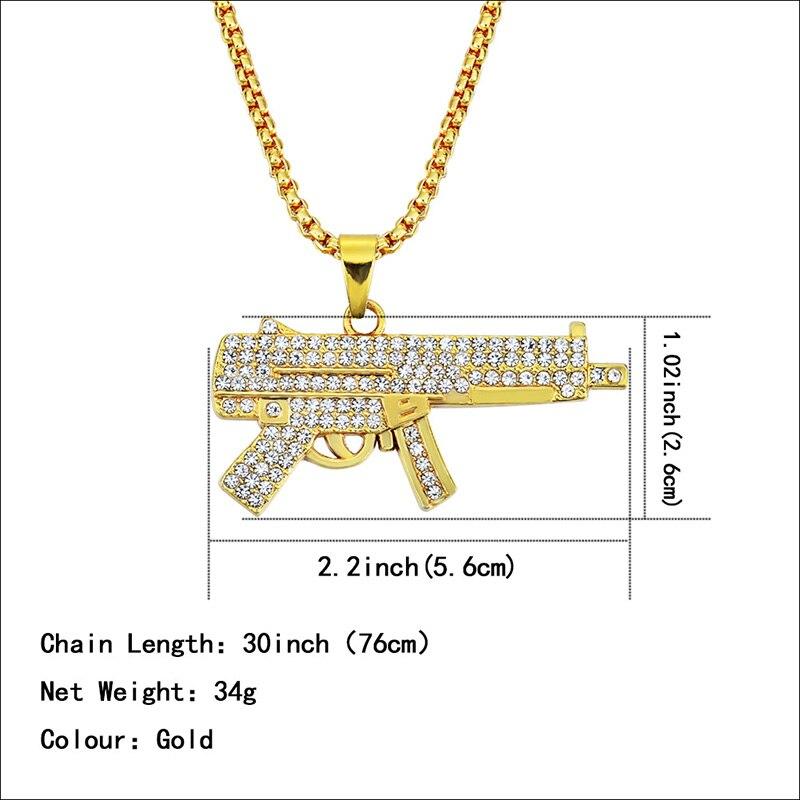 Хип-хоп ювелирные изделия Модные золотые длинные цепочки ожерелья для женщин и мужчин персонализированные буквы Орел молитвенный знак карта кулон ожерелье - Окраска металла: N054