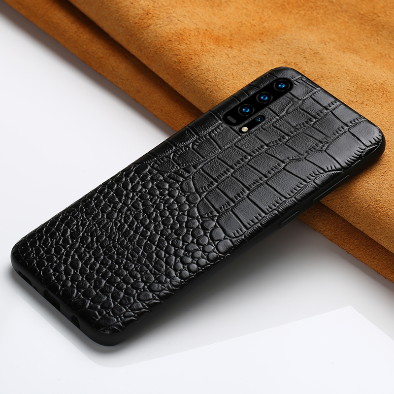 Genuine Leather phone <font><b>case</b></font> for Honor 20 20 Pro 8X luxury <font><b>360</b></font> protective cover For Huawei <font><b>P20</b></font> P30 Pro Lite mate 20 30 pro Lite 9X image