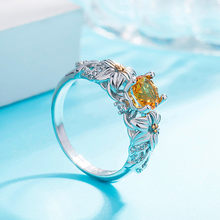 Women Rings Fashion Horse Eye Shape Jewel Gifts Dotted Wedding engagement ring flower ring female silver woman rings(China)