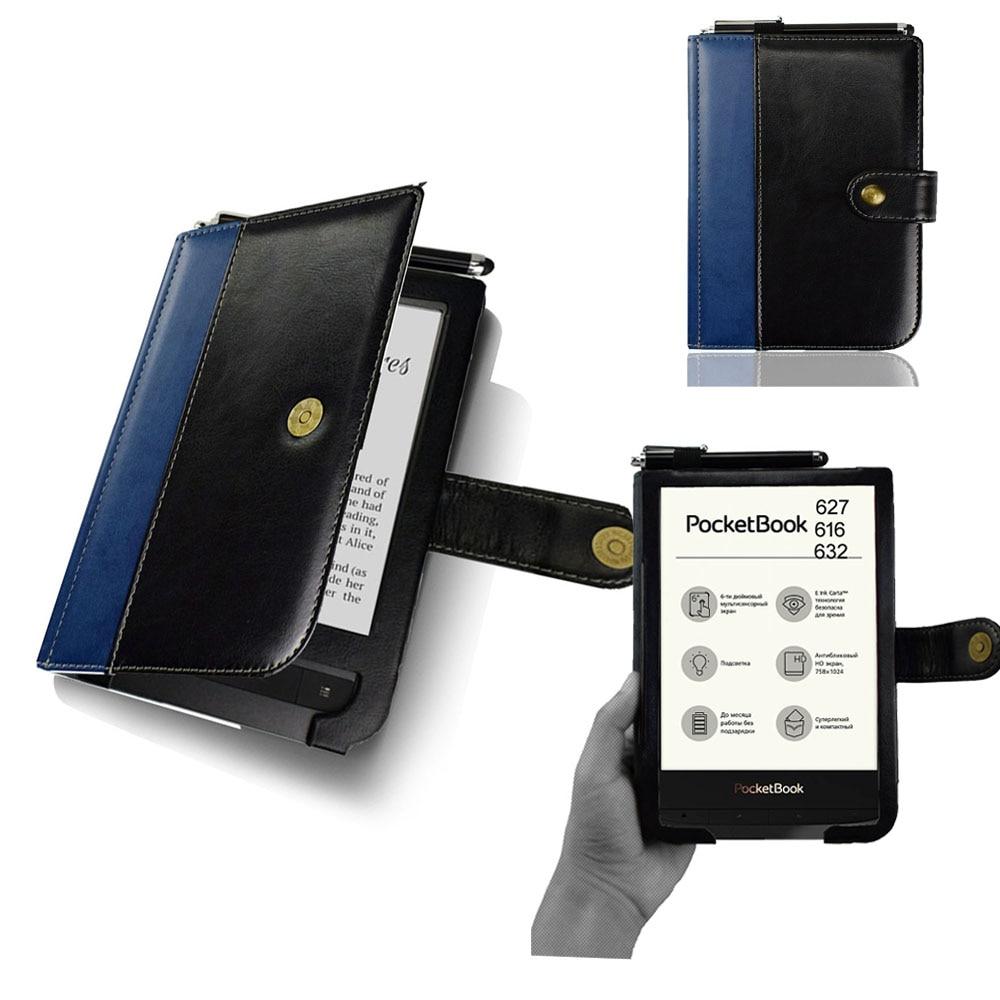 For Pocketbook 616 Book Cover For PocketBook 627 EReader Flip Pu Leather Case Soft Pouch For Pocketbook 632 Ebook Protective Bag
