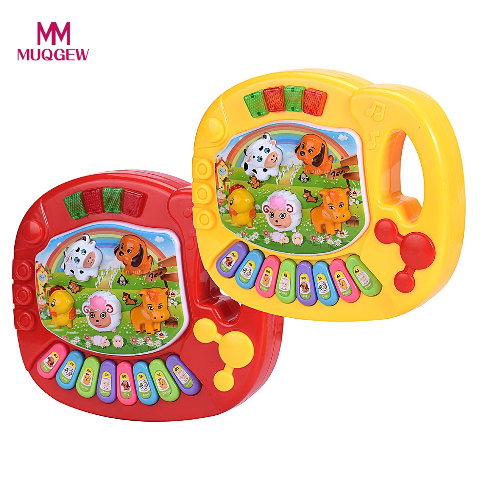 Baby Kids Musical Educational Animal Farm Piano Developmental Music Toy animal's voice Kids Gifts Family Educational цена