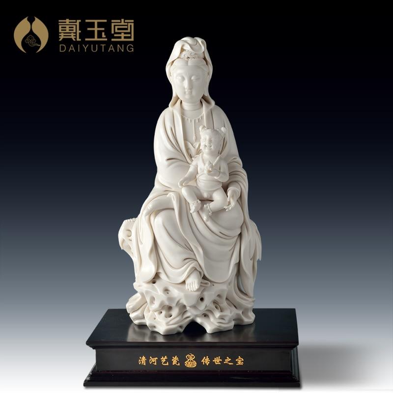 Master Dai Yutang Dehua Su Youde Guanyin masterpieces of Arts and crafts/11 inch D29-16