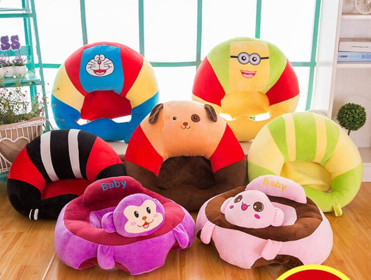 1pc 50cm soft baby little plush learn to sit doraemon dog mouse portable chair pillow cushion stuffed toy girl boy creative gift