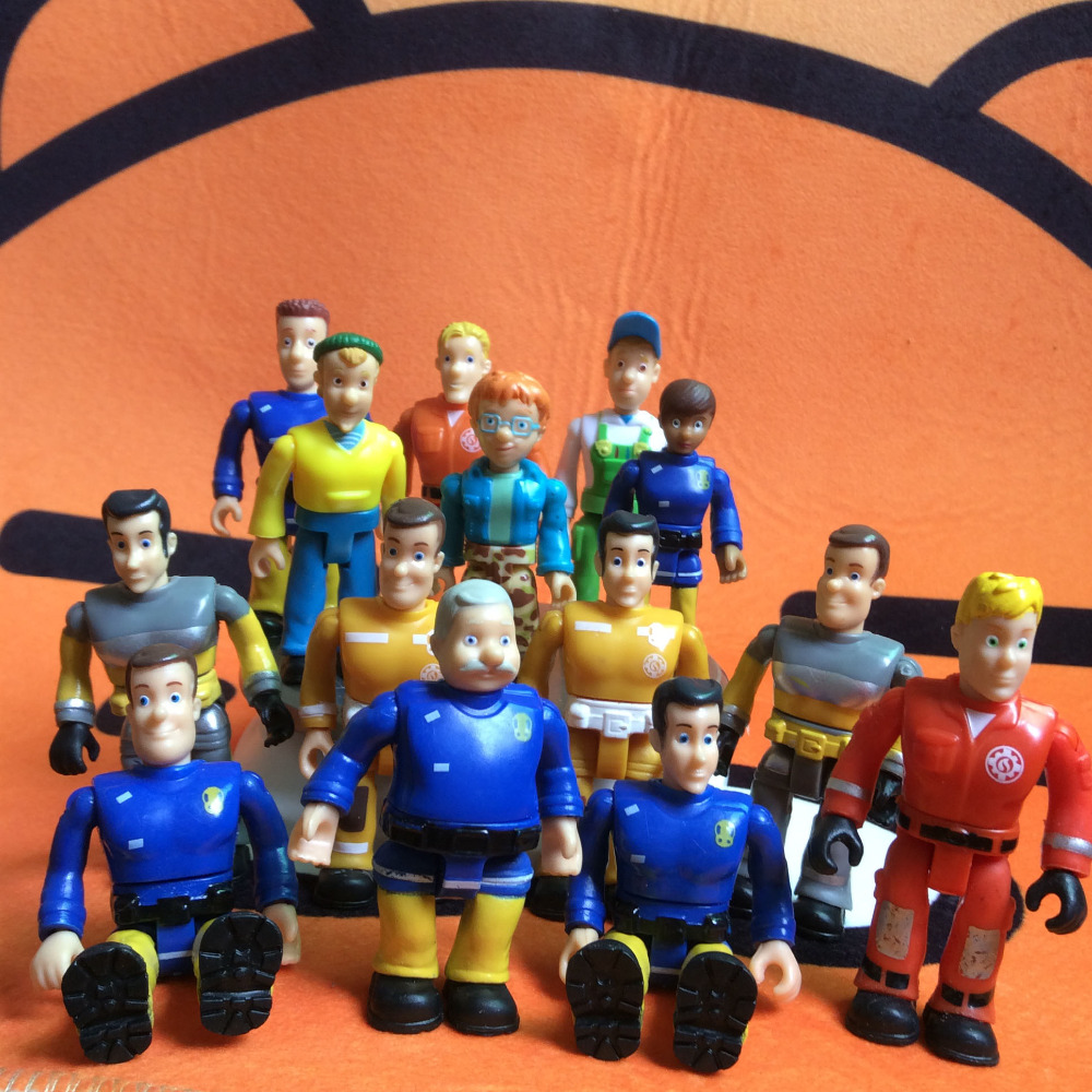 New arrival joint movable Fireman Sam Action PVC Figure Toys for kids