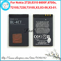 New BL-4CT BL4CT Li-ion Mobile Phone Battery For Nokia 7230 7310s 7310 Supernova  X3 X3-00 X3-01,860mAh