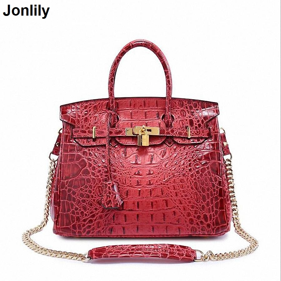 Authentic Women Crocodile Bag 100% Genuine Leather Women Handbag Hot Selling Tote Women Bag Luxury Brand bags SLI-167 сумка nothing but love nothing but love mp002xw1gn1c