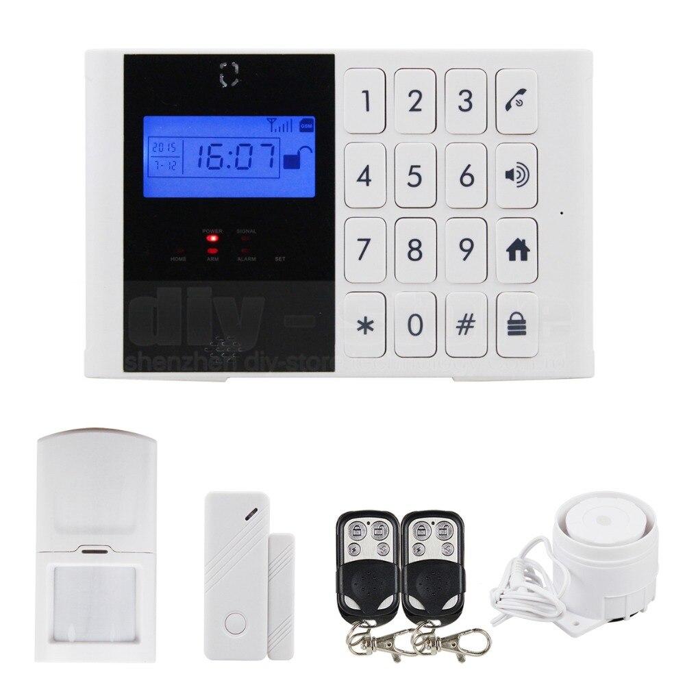 Здесь можно купить  DIYSECUR Wireless GSM SMS Intercom / Monitor Security Home Alarm System LCD Screen Two-Way SOS Talking Alarm + Password Keypad  Безопасность и защита