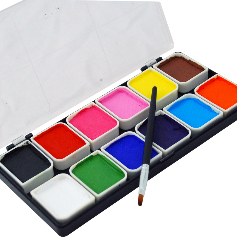 12 Colors Face Body Paint Kits Professional 12 Color Palette FDA Approved